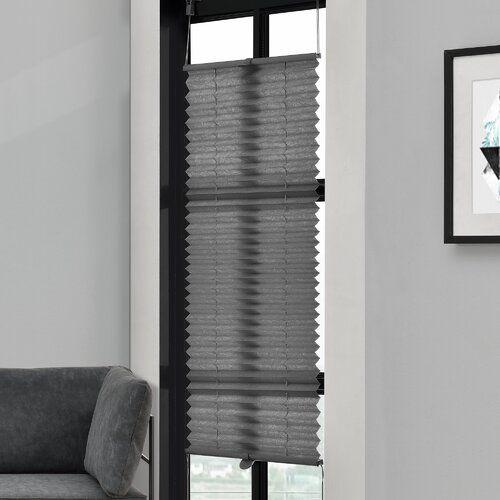 Plissee Halbtransparent Clearambient Farbe Grau Grosse 150 L X
