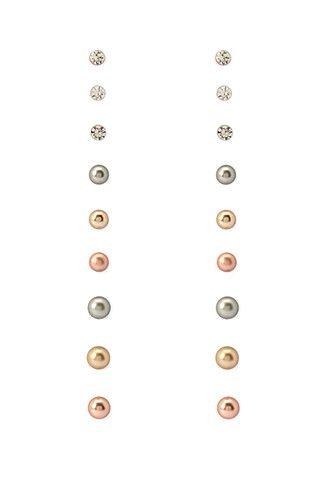 Classic Stud Earrings Set | Forever 21 - 1000097685