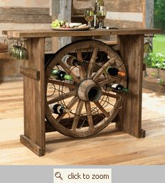 there is so much neat stuff that can be done with old wagon wheels