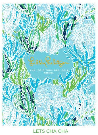 Cahoon's Closet - Lilly Pulitzer 2014-15 Luxe Agenda - Let's Cha Cha, $40.00   (http://www.cahoonscloset.com/shop-by-category/stationery-calendars/lilly-pulitzer-2014-15-luxe-agenda-lets-cha-cha/)