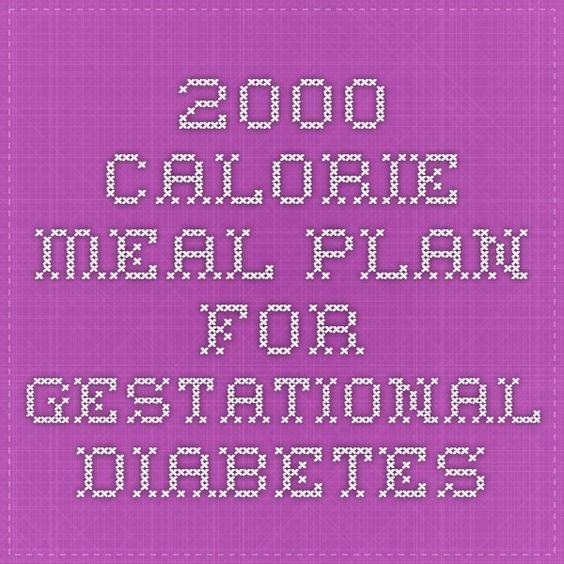 2000 Calorie Meal Plan for Gestational Diabetes