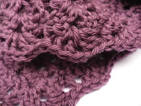 crochet scarf patterns | crochet scarf in purple yarn – a custom order requested by my Dad ...