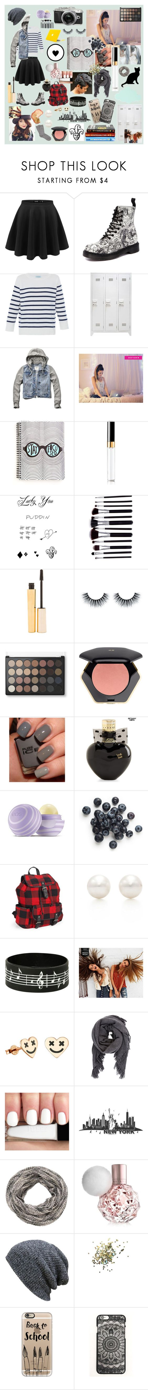 """Bring it Back* ~ Back To School"" by gummywums ❤ liked on Polyvore featuring Dr. Martens, HANIA by Anya Cole, ferm LIVING, Abercrombie & Fitch, Retrò, Chanel, Stila, H&M, Aéropostale and Eos"