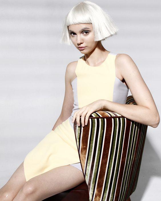 stripes composition / 60s fashion retro