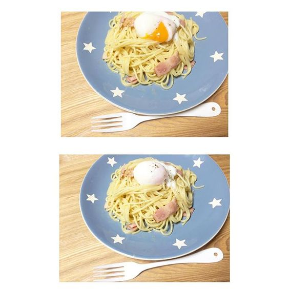 egg.99 #おうちごはん #カルボナーラ