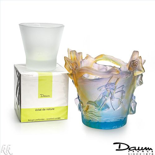 $759.00  Daum! Made in France Luxurious Candleholder with Cup and Scented Candle