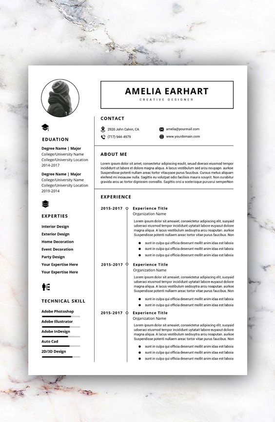 Resume Design Template Modern Resume Template Word Free