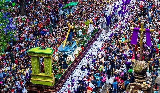 Viajar a Antigua Guatemala en semana santa para ver las procesiones viernes santo