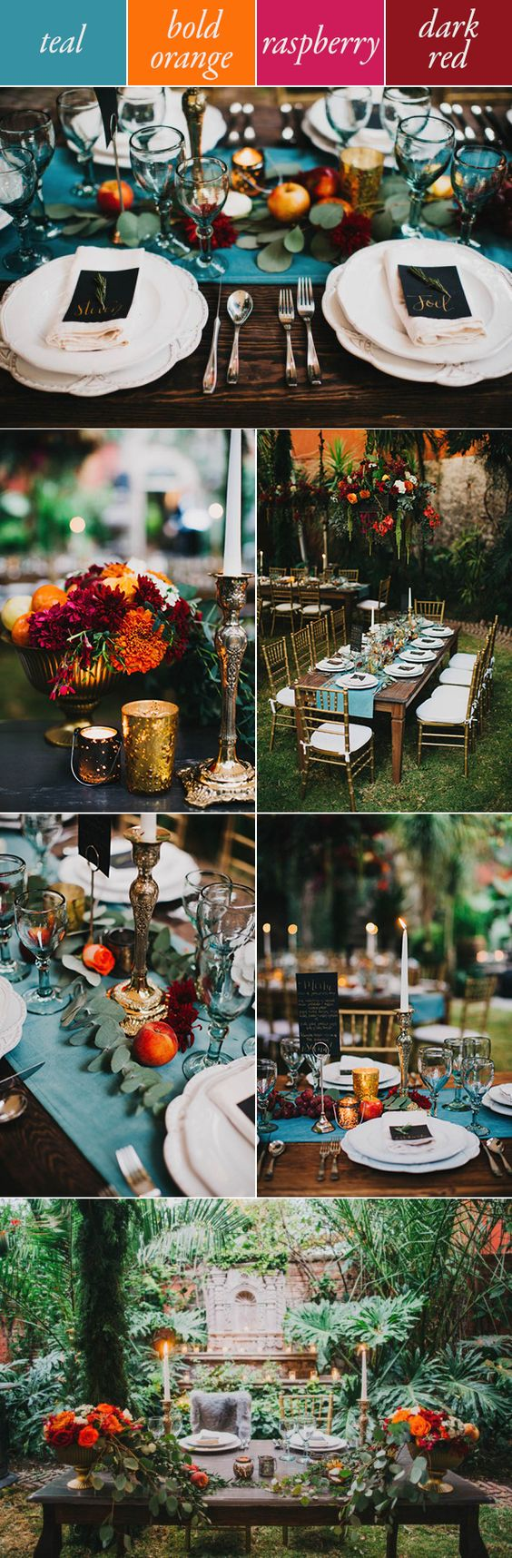 Teal, orange, pink, and red make a warm fall combination   Blest Studios