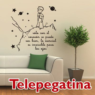 Vinilo decorativo para pared el principito 60x60 wall for Vinilo el principito