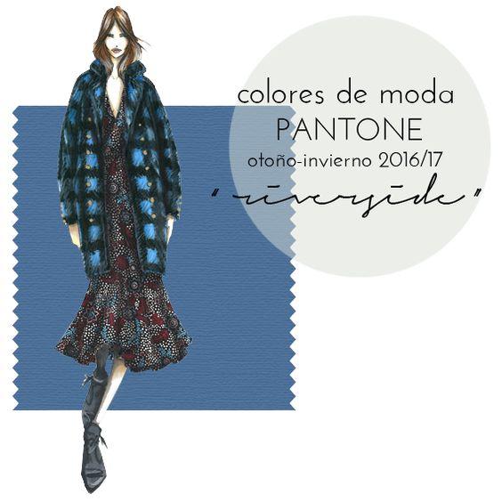 """Colores de moda Pantone otoño invierno 2016-17: azul """"riverside"""""""
