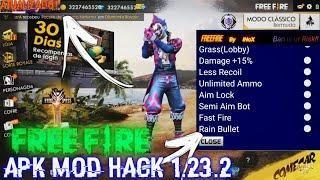 Free Fire Apk Mod Hack 1 23 2 Mod Menu Dinheiro Infinito Muito