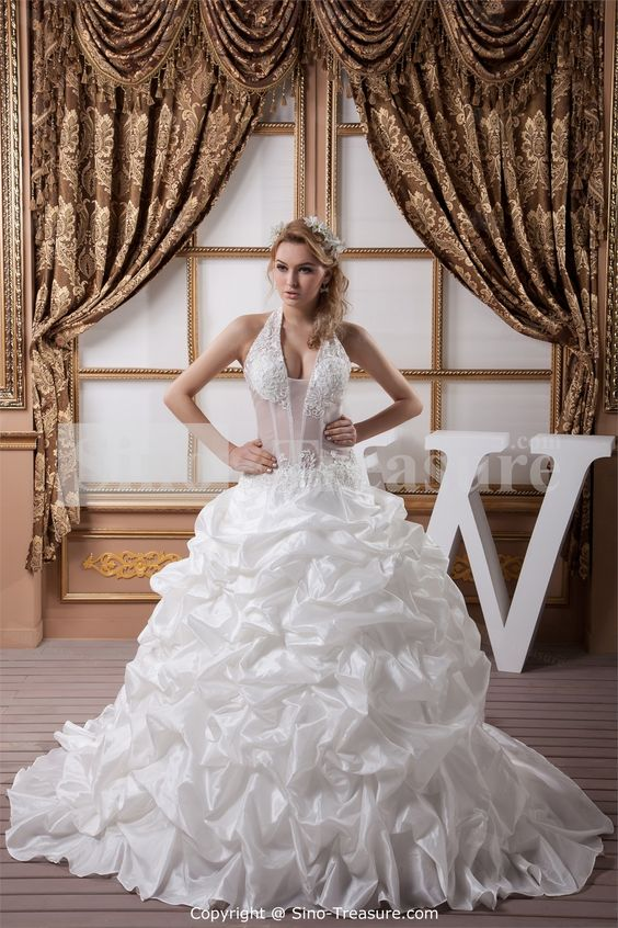White Sleeveless A-Line Outdoor/ Garden Wedding Dress -Wedding & Events-Wedding Dresses-Wedding Dresses 2013 US$299.99