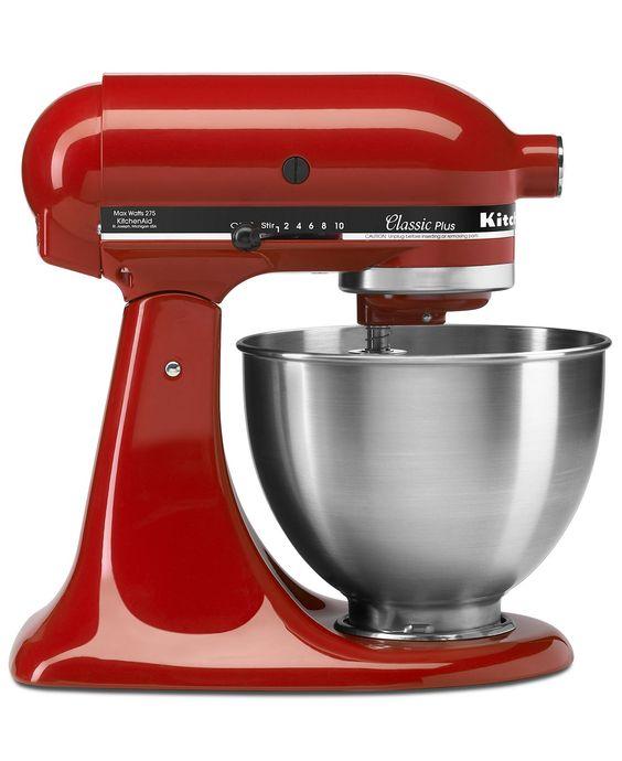 KitchenAid Red Mixer, 4.5 Qt. Classic Plus Tilt Head <3
