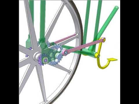 Chainless Bike With 4 Bar Linkages Youtube