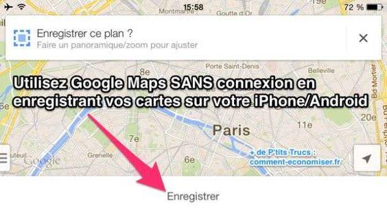 Savez-vous qu'il est possible d'utiliser Google Maps sans connexion sur iPhone et Android ? Surtout quand on part en vacances à l'étranger. Ça évite d'exploser son forfait !  Découvrez l'astuce ici : http://www.comment-economiser.fr/utiliser-google-maps-sans-connexion.html?utm_content=buffer4b988&utm_medium=social&utm_source=pinterest.com&utm_campaign=buffer