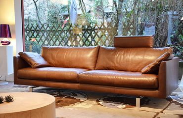 montis axel sofa in cognac leer inredning pinterest. Black Bedroom Furniture Sets. Home Design Ideas