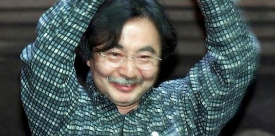 Jiro Taniguchi, quand il est venu à Angoulême en 2003.  (©AFP PHOTO Christian BOURRON)