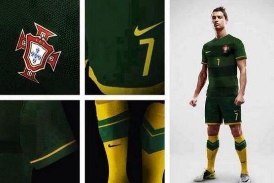 O provável equipamento alternativo da Seleção Portuguesa de Futebol no Mundial