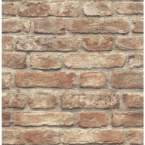 Scott Living 30 75 Sq Ft Red Vinyl Brick Self Adhesive Peel And Stick Wallpaper Lowes Com Brick Wallpaper Lowes Peel And Stick Wallpaper Brick Wallpaper