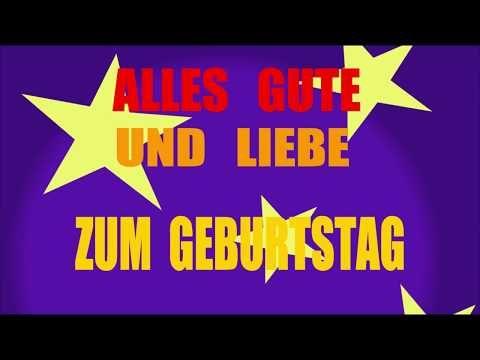 Geburtstagslied Lustig Deutsch Dein Geburtstagslied Youtube