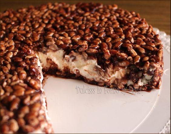 Due versioni golosissime della Cheesecake con riso soffiato mascarpone e nutella! Una semifreddo e una con base di biscotti. Quale scegliete ?