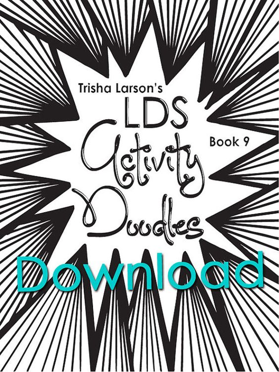 DOWNLOAD Abstract Doodles Coloring Book 9 LDS Activity Doodles