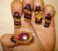 3D Gem and Jewel Nail Art Design