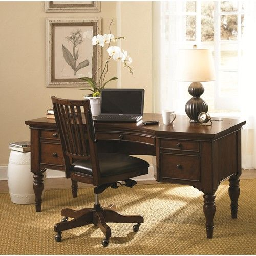 the perfect setting from your home office e2 villager traditional half double pedestal aspenhome home office e2