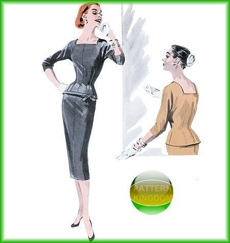 Butterick 5557 1950s Wiggle Top & Skirt Retro Dress Patterns