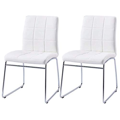 Modern Dining Chairs Set Of 2 Dining Room Chairs With Faux Leather Padded Seat Ba Fabric Dining Room Chairs Midcentury Modern Dining Chairs Side Chairs Dining
