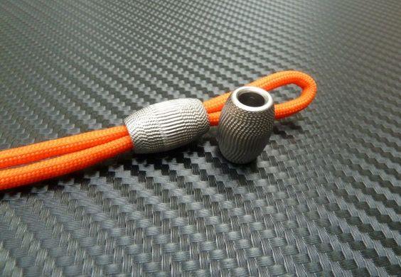 Aztec Titanium Stopper Bead: Titanium Stopper, Titanium Edc, Paracord Beads, Lanyard Beads, Beads Charms, Cord Knots, Edc Military, Aztec Titanium