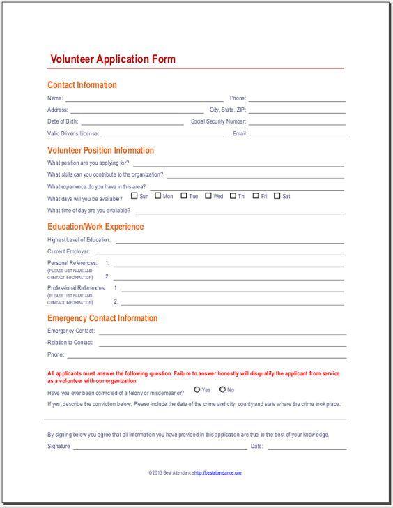 Pin By Jackie Reynolds On Volunteer Application Volunteer