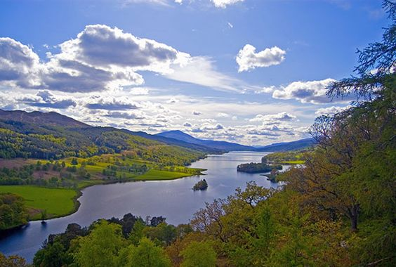 A View Near Pitlochry, at the end of the Highland Experience Itinerary