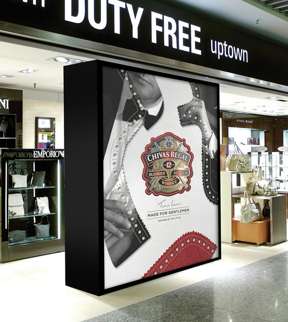 Chivas Regal - Made ForGentlemen - in-store display placement