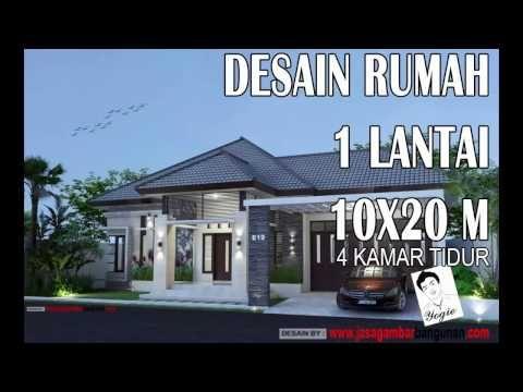 desain eksterior rumah: desain rumah 9x20 5