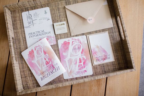 pretty as can be watercolor invites  Photography By / http://elainepalladino.com