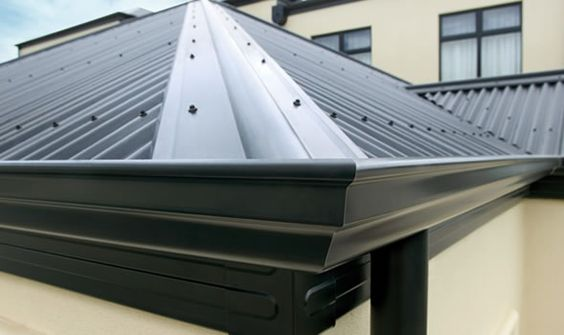 Metal Roof U0026 Matching Gutters | Exterior Decor | Pinterest | Roof Covering,  Walls And Metal Roof