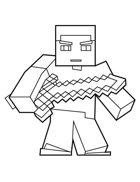Desenhos Do Minecraft Para Colorir Com Imagens Desenhos