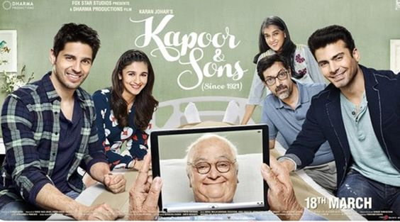 Kapoor and Sons (2016)  DM -  Alia Bhatt, Sanjay Dutt, Fawad Khan,Sidharth Malhotra
