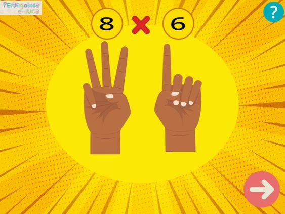 Multiplicar con los dedos