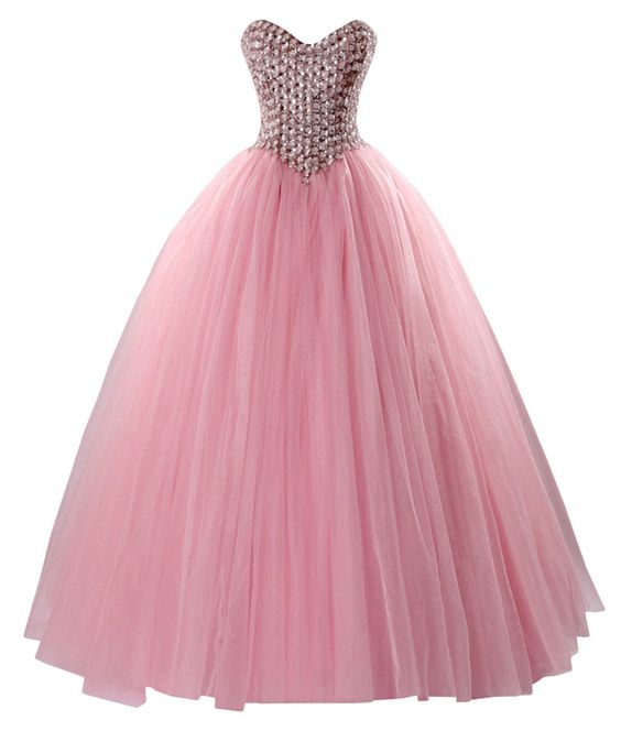 Mr.zhu Long Sweetheart Princess Beads Rhinestone Ball Gown Prom Dress Pink US14. This prom dress is made in high quality Tulle. A-Line style and Lace Up Back. Bodice Beaded Shiny Rhinestones. Size :US2-US26W is in stock ,If you have any problems About size. Please refer to our size chart or feel free to contact us before placing the order. Color:Pink.