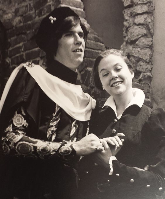 Ooh, here's a good 'un: Baby Howard Swain & Annette Bening in All's Well That Ends Well (1983); photo by Bob Hsiang. #CalShakes40th: Bob Hsiang, Baby Howard, Bay Area