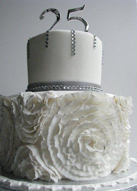 Jays Wedding 25th Wedding Anniversary Anniversary Cakes Silver