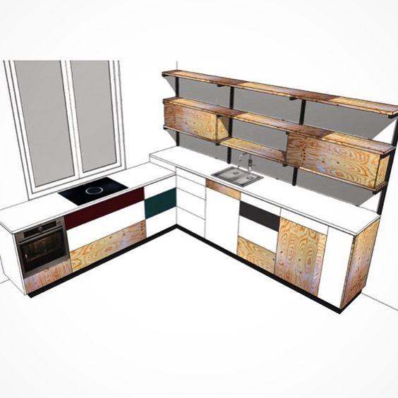 Variaties op hetzelfde thema. Nieuw ontwerp keuken. Underlayment en LG HiMacs. By Justus & Tjebbo Interieur #lghimacs #design #interiors #interior #interiordesign #wood #furniture #furnituremaker #furnituredesign #plywood #underlayment #wow