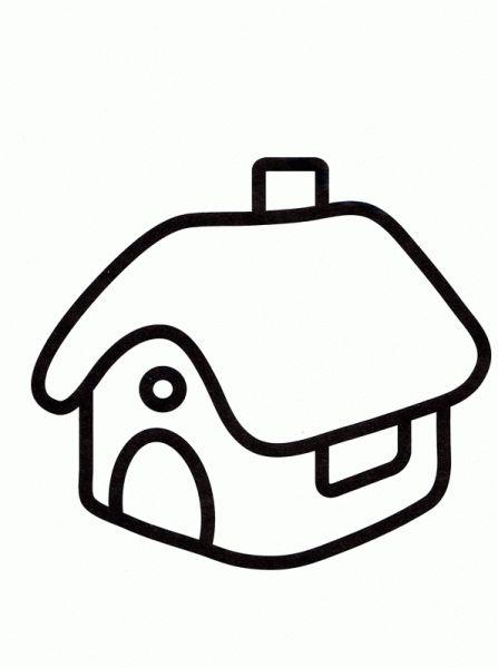 casa-02  Dibujos y juegos, para pintar y colorear ...