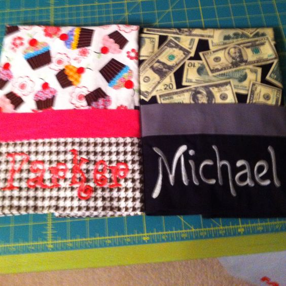 Pillowcases I made and embroidered: