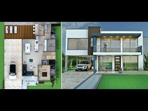 Analizaremos Dos Modelos De Fachadas De Casas Modernas Que Utilizan Elementos De Diseno Contemporaneo Casas Modernas Fachadas De Casas Modernas Fachada De Casa