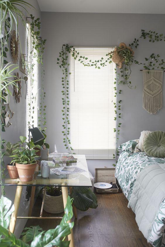 decorative vines set room inspiration bedroom redecorate ideas wood furniture design bed