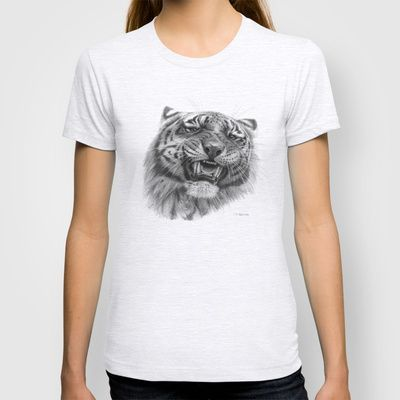 Tiger roar  G082 T-shirt by S-Schukina - $18.00